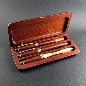 Other - Iridium Point Germany 3-Piece Pen Set Wooden Case